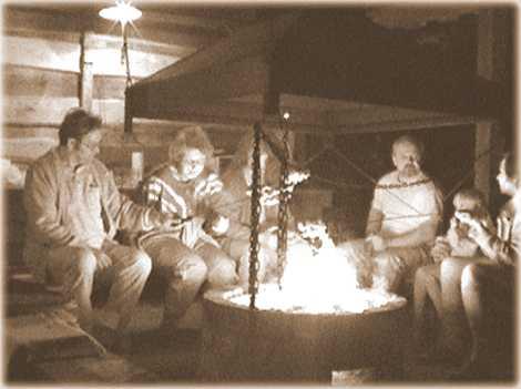 Z alba našich hostů - večer u ohně